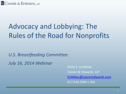 Advocacy and Lobbying for Nonprofits Read More