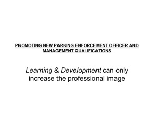 promoting new parking enforcement officer and management