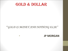 Dollar vs Gold - WordPress.com