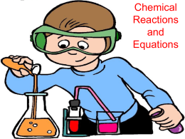 Chemical Reactions and Equations - Red Hook Central School District