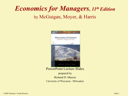 What is Managerial Economics?