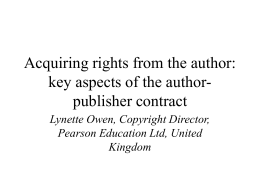 key aspects of author