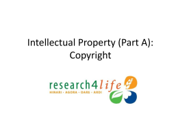 Intellectual Property Section 1 Copyright