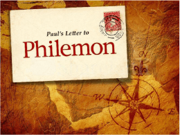 Philemon Lesson Slideshow