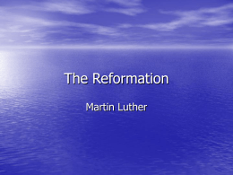 Martin Luther PPT