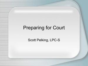 Preparing for Court