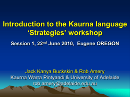 Intro to Kaurna