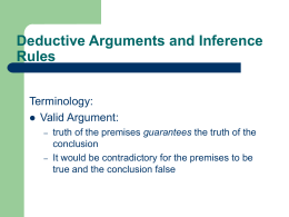 Deductive Arguments and Inference Rules