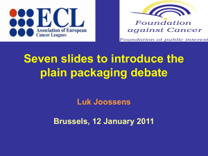 Five slides to introduce the plain packaging debate