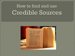 Credible Sources Presentation