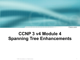 Implementing Multiple Spanning Tree