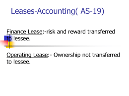 Leases-Accounting( AS-19)