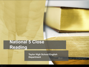 Nat 5 Close Reading PPT
