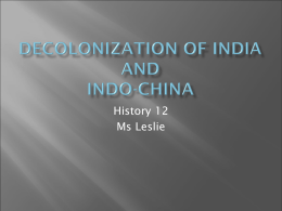 Decolonization of India and Indo