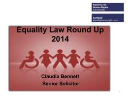 Claudia Bennett - Equality and Human Rights Commission