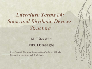 Lit.Terms 4: rhythm & meter - AP English Literature and Composition