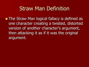 Straw Man Definition