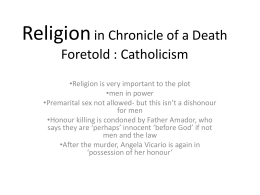 Religion in Chronicle of a Death Foretold