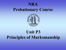 NRA Probationary Course - Cawdor Rifle and Gun Club