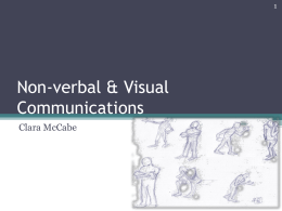 Non-verbal & Visual Communications