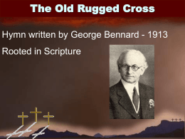 The Old Rugged Cross - Radford Church of Christ
