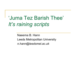 it`s raining scripts (Teaching right-to