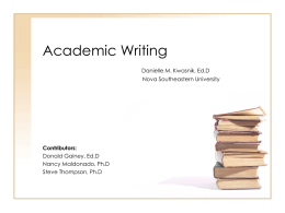 Academic Writing - SharkWrites!
