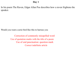 the raven by edgar allen poe with analysis