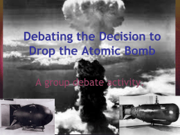 Atomic Bomb Power Point