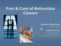 Pros and Cons Of Boiler Plate Clauses