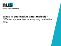 Analysing qualitative data presentation