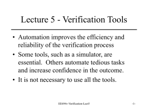 OSU Lecture 5 on Verification Tools