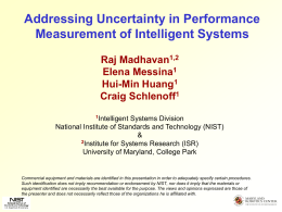 Addressing Uncertainty in Performance Measurement of Intelligent