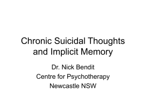 Chronic suicidal thoughts and implicit memory.