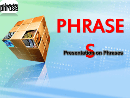 Click here to PPT on Adjective Phrases