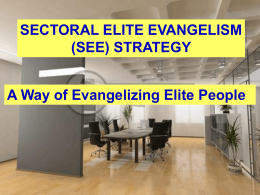 SECTORAL ELITE EVANGELISM