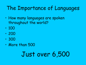 The Importance of Languages Powerpoint