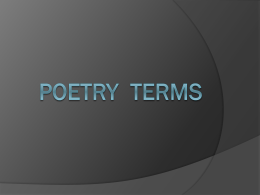 Poetry Terms - World of Teaching