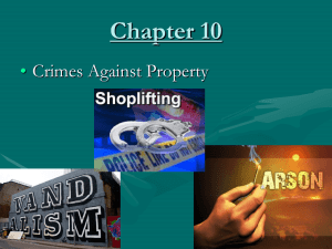10. Crimes Against Property