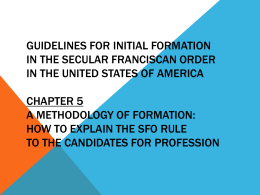 How to Explain the SFO Rule to the Candidates for Profession