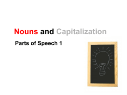 Noun Types and Capitalization Lesson PPT