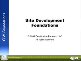 Site Dev v2 0 PowerPoint
