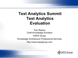 Text Analytics Software Evaluation