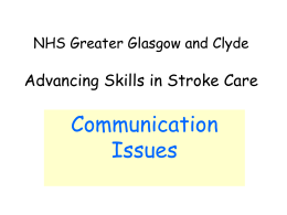 University of Paisley Multidisciplinary Stroke Management
