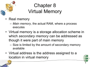 Chapter 8 Virtual Memory