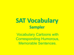 SAT Vocabulary Words PowerPoint