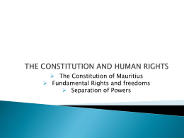 THE CONSTITUTION AND HUMAN RIGHTS