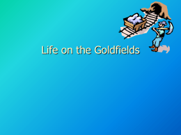 Life on the goldfields