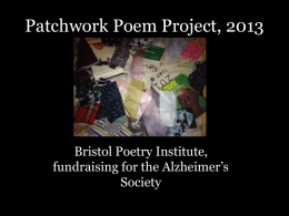 Patchwork Poem Project, 2013
