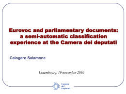 Eurovoc and parliamentary documents: a semi
